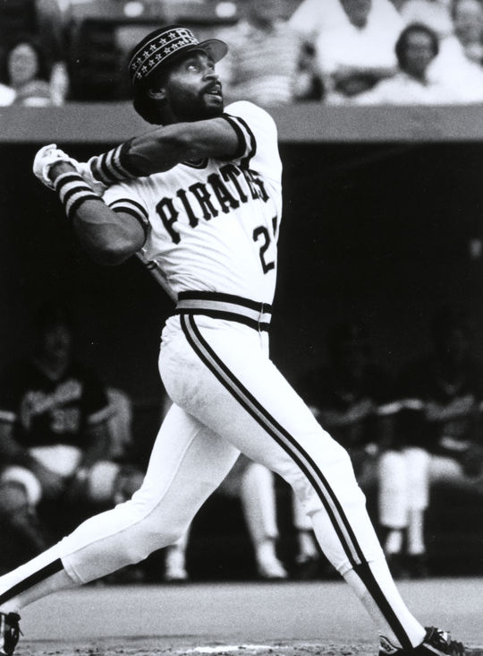 Mike Easler of the Pittsburgh Pirates, 1981. BL-1452-81 (National Baseball Hall of Fame Library)