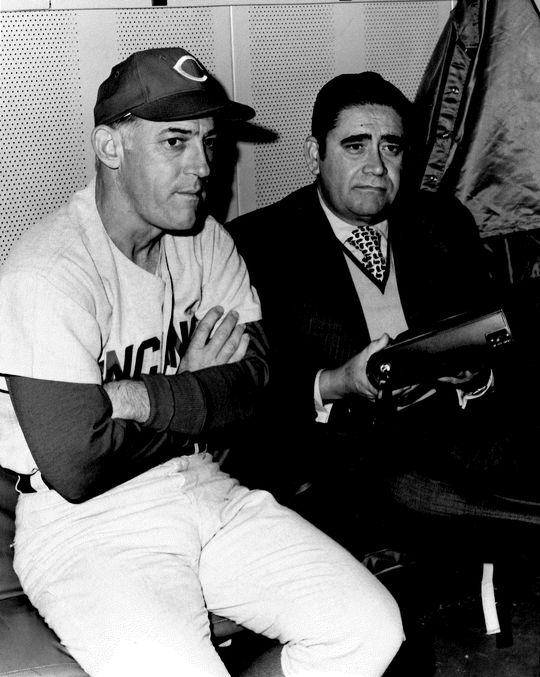 Felo Ramírez sits alongside Hall of Fame manager Sparky Anderson. (National Baseball Hall of Fame and Museum)