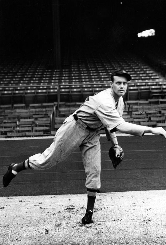 A posed action shot of Wes Ferrell of the Boston Red Sox. BL-416.63 (National Baseball Hall of Fame Library)