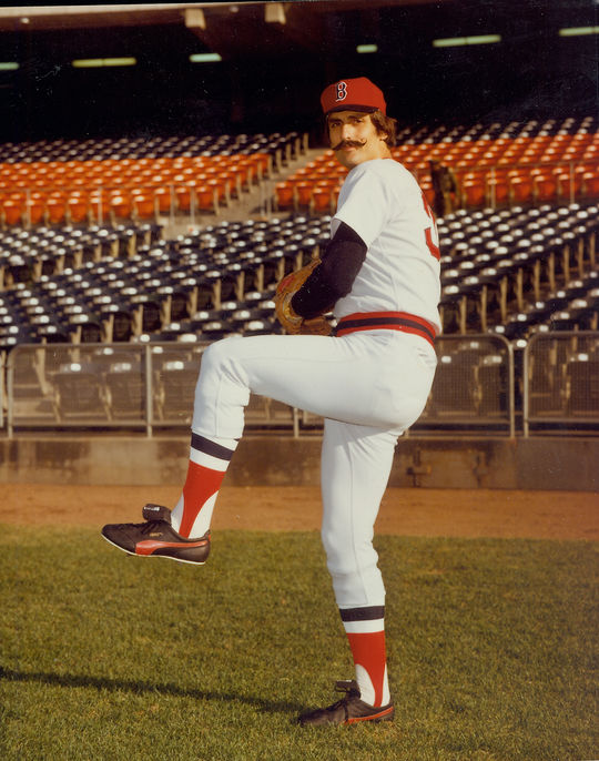 "Rollie Fingers was a member of three World Championship teams with the Athletics, but said at the time of his sale to the Red Sox that he didn't care where he played and  just ""wanted to play baseball."" (Doug McWilliams / National Baseball Hall of Fame)"