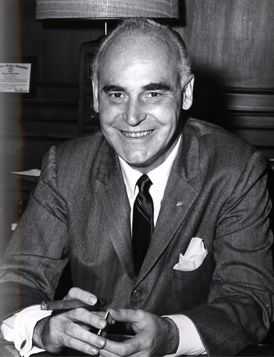 Former Athletics owner Charlie Finley lost eight players from his championship teams of the 1970s to free agency. By 1980, he sold the A's and left the game entirely. (National Baseball Hall of Fame)