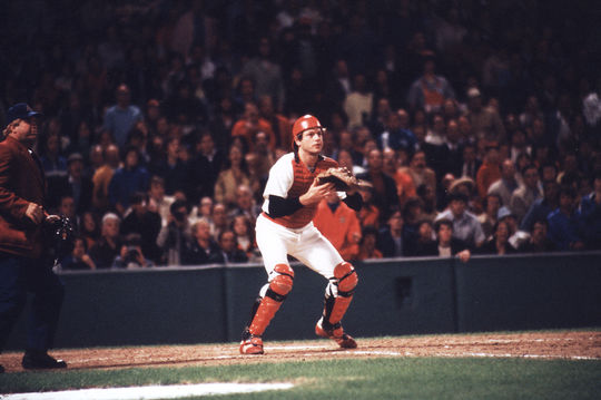 At the time of his retirement, Carlton Fisk held the record for most games behind the plate, with 2,226. (National Baseball Hall of Fame)
