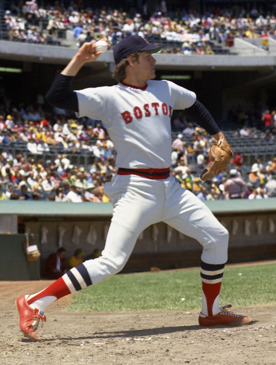 Carlton Fisk earned seven All-Star Game selections in his 11 seasons with the Boston Red Sox. (Doug McWilliams/National Baseball Hall of Fame and Museum)