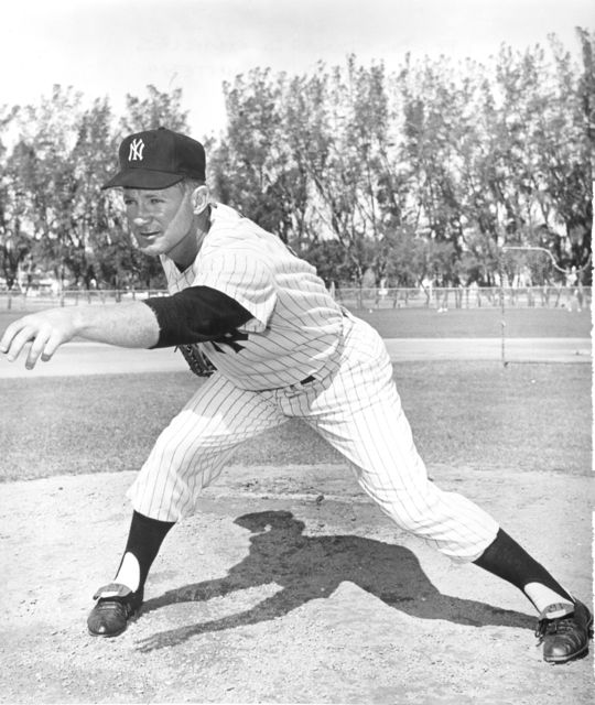 Whitey Ford retired with the Yankees on May 30, 1967, with a franchise-high 236 victories. (National Baseball Hall of Fame and Museum)