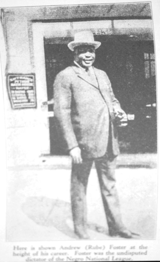 Cristóbal Torriente played for Rube Foster, pictured above, and his Chicago American Giants, for six years. (National Baseball Hall of Fame)