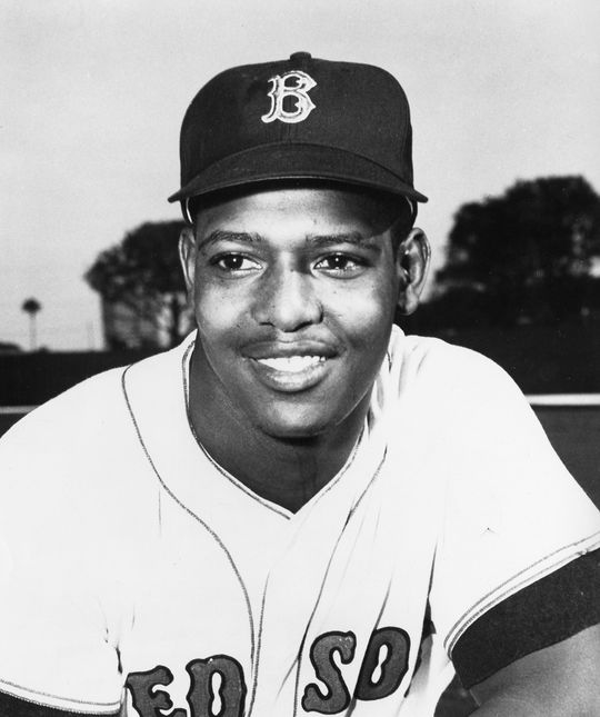 "Joe Foy (pictured above) was a Red Sox teammate of George Scott's and came up with Scott's nickname ""Boomer."" (National Baseball Hall of Fame and Museum)"