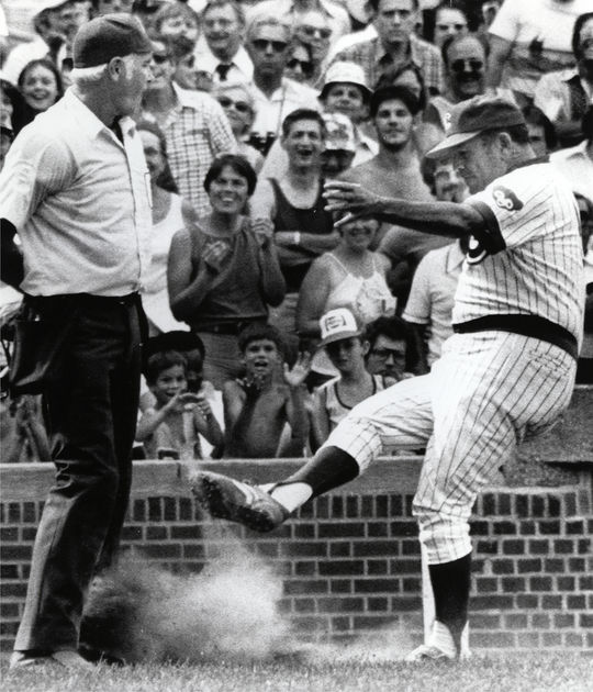 In 1976, the Chicago Cubs hired Herman Franks as manager. Franks quickly became a colorful figure in the Windy City. (National Baseball Hall of Fame and Museum)