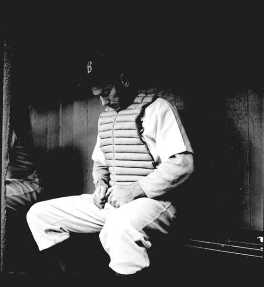Herman Franks began his baseball career as backup catcher with the St. Louis Cardinals and Brooklyn Dodgers. (Frank Bauman/Look Magazine)