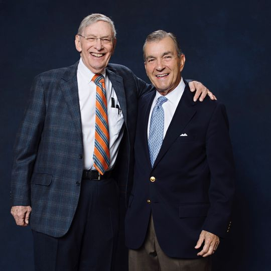 """John Schuerholz and Allan H. """"Bud"""" Selig joined the Class of 2017 when they were elected to the National Baseball Hall of Fame by the Today's Game Era Committee. (Jean Fruth / National Baseball Hall of Fame)"""