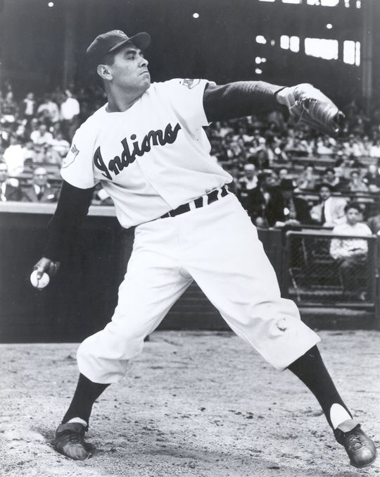 To make room for Gary Bell on the roster, the Cleveland Indians released veteran starter Mike Garcia (pictured above) in 1959, who was hurt and unable to pitch. (National Baseball Hall of Fame and Museum)