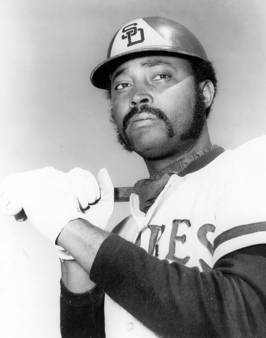 Cito Gaston, taken with the Padres' final pick of the expansion draft, was an original Padre who started in center field during San Diego's inaugural season. (National Baseball Hall of Fame and Museum)
