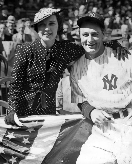 Lou Gehrig married his wife Eleanor (left) in 1933 and won the American League Triple Crown just one season later. (National Baseball Hall of Fame and Museum)