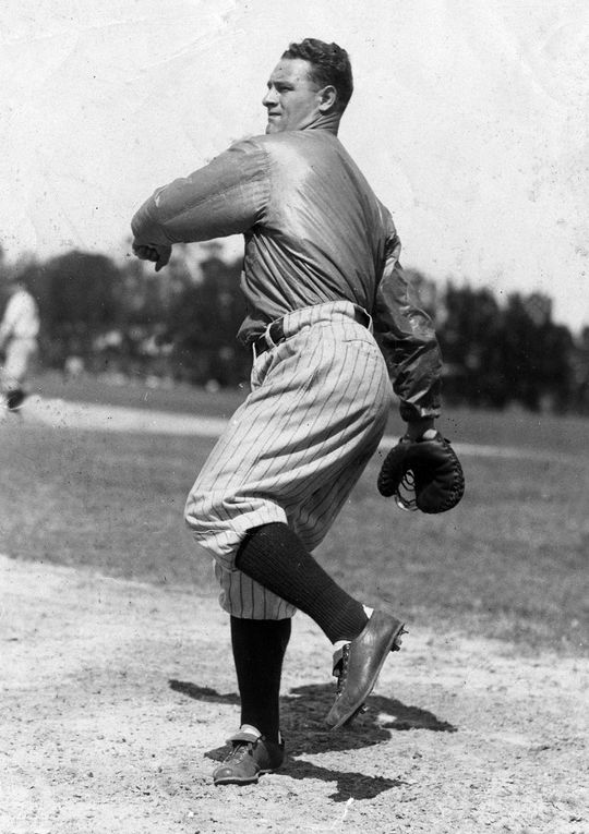 Over 17 big league seasons, Lou Gehrig hit .340 with 493 home runs and 1,995 RBI. He was elected to the Hall of Fame in 1939. (National Baseball Hall of Fame and Museum)