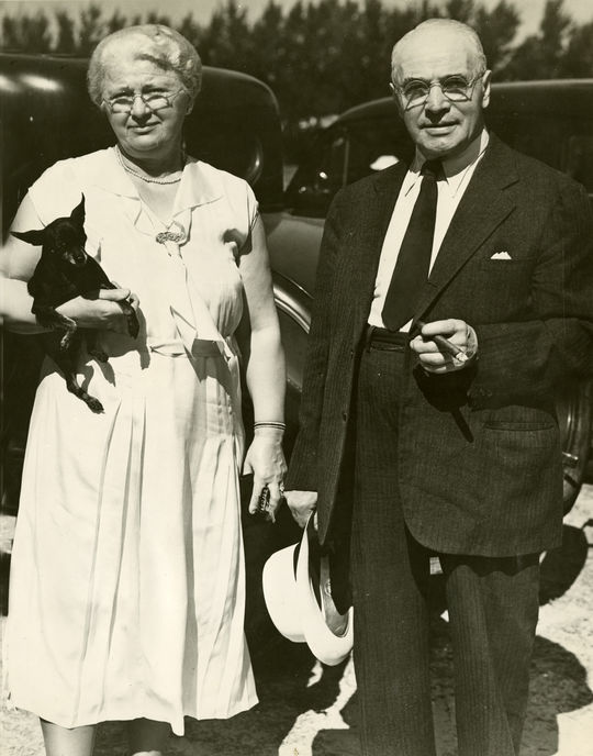 Lou Gehrig was extremely close with his parents (pictured above) and told the press that they were his motivation for maintaining his legendary consecutive games-played streak. (National Baseball Hall of Fame and Museum)