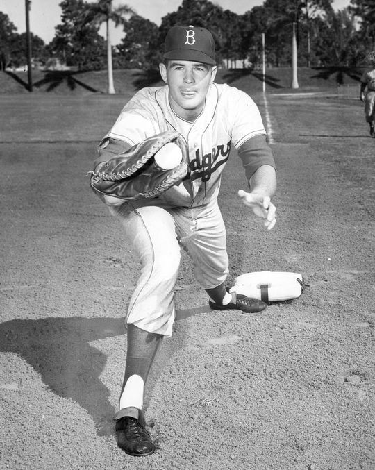 Jim Gentile played parts of two seasons with the Dodgers before being dealt to the Orioles following the 1959 season. (National Baseball Hall of Fame and Museum)