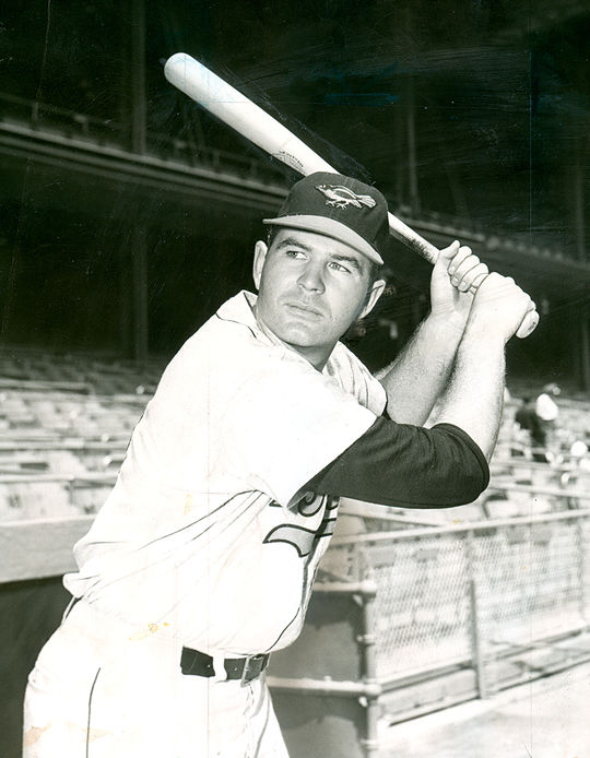 In his second season with the Orioles in 1961, Jim Gentile hit 46 home runs and drove in an American League-best 141 runs en route to finishing third in the AL MVP race. (National Baseball Hall of Fame and Museum)