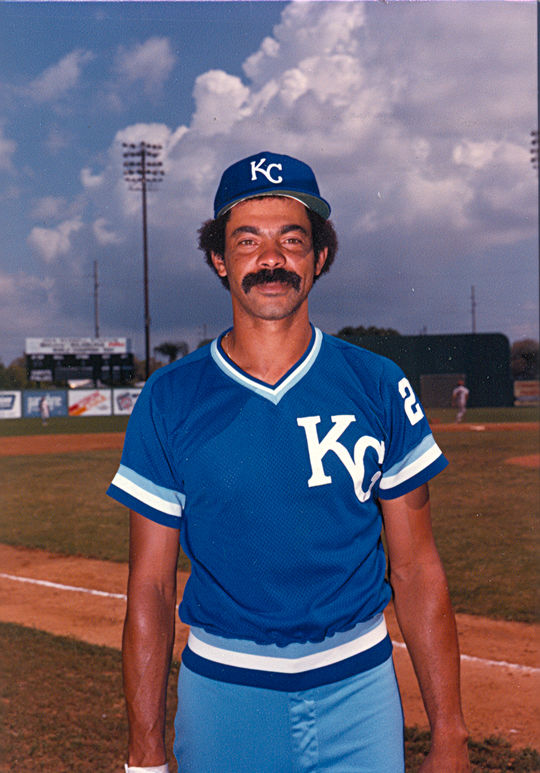 César Gerónimo played the three final seasons of his professional baseball career with the Kansas City Royals, from 1981-83. (National Baseball Hall of Fame and Museum)