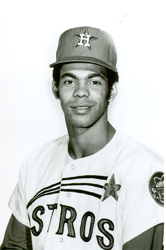 César Gerónimo began his professional baseball career with the Houston Astros in 1969. (National Baseball Hall of Fame and Museum)