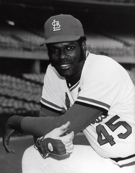 In Bob Gibson's 17-year major league career, he tallied 3,117 strikeouts – all with the St. Louis Cardinals. (National Baseball Hall of Fame and Museum)