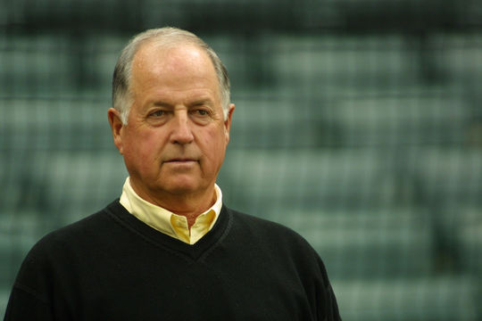 Blue Jays general manager Pat Gillick acquired Roberto Alomar and Joe Carter from the Padres on Dec. 5, 1990, in exchange for Tony Fernandez and Fred McGriff. (National Baseball Hall of Fame and Museum)