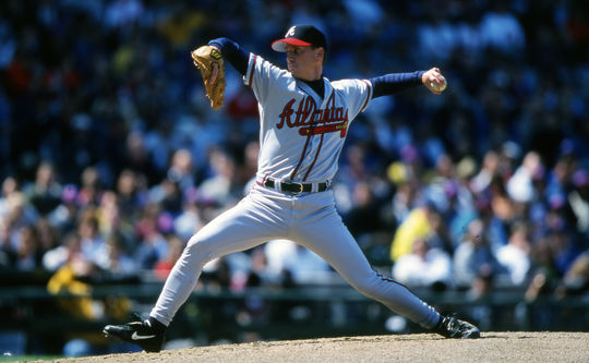 Hall of Fame pitcher Tom Glavine won the 1991 and 1998 NL Cy Young Awards as a member of the Atlanta Braves. BL-7-2013-1315 (Ron Vesely / National Baseball Hall of Fame Library)