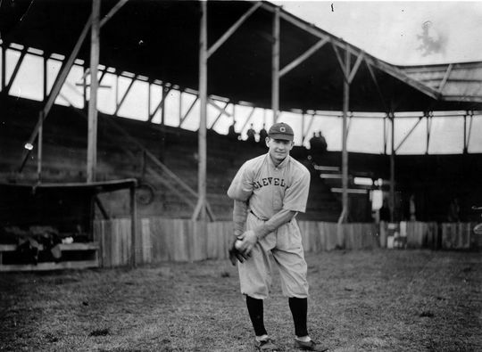 Jack Graney warming up before a Cleveland Indians game. BL-1481.89 (National Baseball Hall of Fame Library)