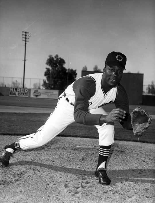 """Jim """"Mudcat"""" Grant of the Cleveland Indians. BL-1012.73 (National Baseball Hall of Fame Library)"""
