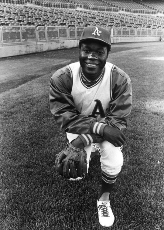 Mudcat Grant posing for a photograph in his Oakland Athletics' uniform. BL-4093.70 (National Baseball Hall of Fame Library)