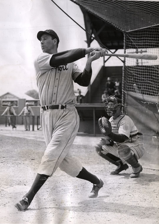 A towering presence at 6-foot-3, Hank Greenberg was seen as a powerful symbol of athleticism for Jewish-Americans. (National Baseball Hall of Fame)