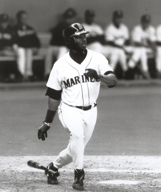 Ken Griffey Jr. received 99.32 percent of the 2016 BBWAA Hall of Fame vote to set a new record in highest percentage received. BL-3905-96 (National Baseball Hall of Fame Library)