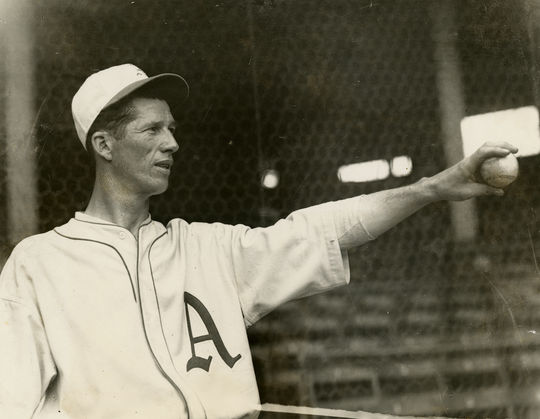 "Lefty Grove started his career with Connie Mack's Athletics. Mack called Grove the ""best left-handed pitcher I ever saw."" (National Baseball Hall of Fame)"