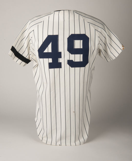 On Sept. 24, 1978, Ron Guidry, recorded his ninth shutout and 23rd win, tying Ruth's record. A Yankees jersey worn by Guidry in 1978 is also a part of the Hall of Fame collection. (Milo Stewart Jr. / National Baseball Hall of Fame)