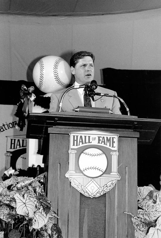 Tom Seaver received 98.8 percent of the BBWAA vote in 1992, the highest percentage in history until Ken Griffey Jr. received 99.3% in 2016. (National Baseball Hall of Fame and Museum)