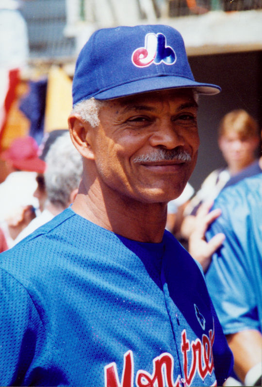 Expos manager Felipe Alou smiles for the camera. BL-6057.96 (Tom Ryder / National Baseball Hall of Fame Library)