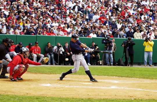 Ivan Rodriguez at bat for the Tigers during the 2005 HOF Game. (Milo Stewart, Jr., National Baseball Hall of Fame Library)