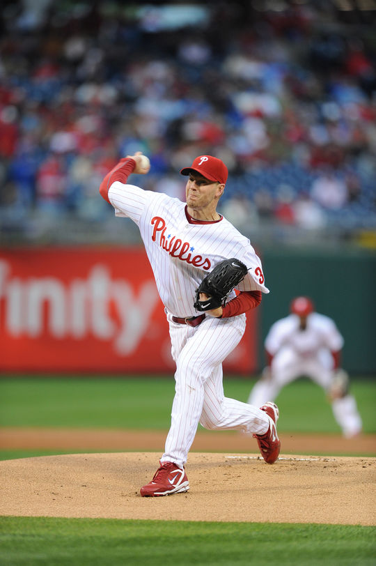 Roy Halladay struck out 14 batters in a game twice during his Hall of Fame career: once with the Blue Jays in 2009 and again with the Phillies in 2011. (National Baseball Hall of Fame and Museum)