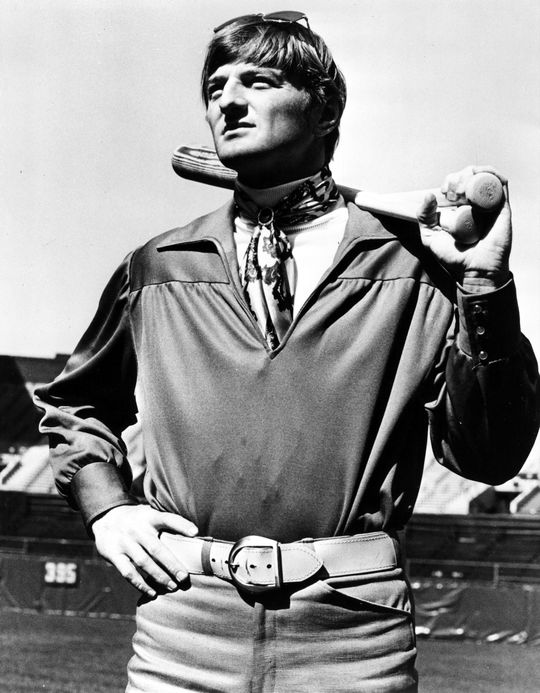Ken Harrelson displaying his sense of style. BL-1053-73 (National Baseball Hall of Fame Library)