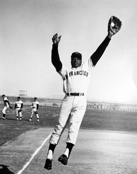Jim Ray Hart of the San Francisco Giants posed reaching for a baseball. BL-1091-71 (National Baseball Hall of Fame Library)