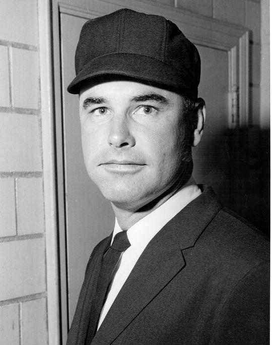 Hall of Famer Doug Harvey was a senior circuit umpiring colleague of Steve Rippley. (National Baseball Hall of Fame)
