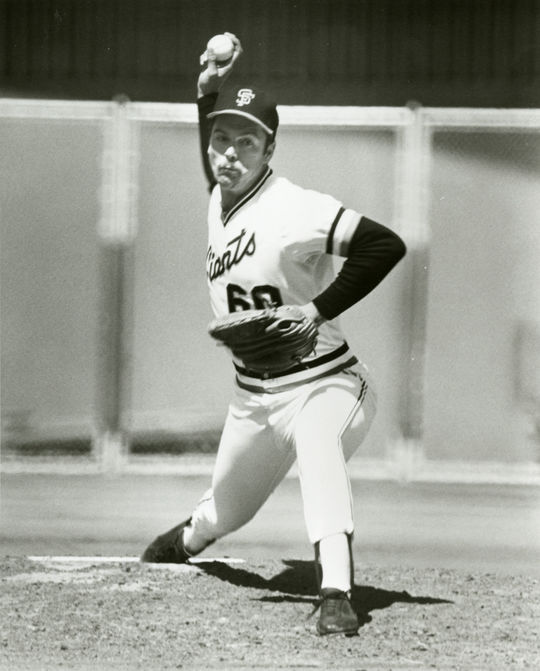 Dave Heaverlo wore No. 60 with the Giants during his first three years in the big leagues, which was the highest number of any player at the time. (National Baseball Hall of Fame and Museum)