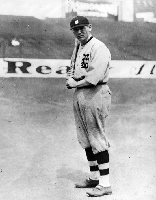 A posed photograph of Harry Heilmann in 1923. BL-264.58b (National Baseball Hall of Fame Library)