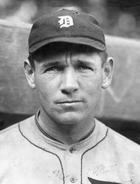 Harry Heilman in a Detroit Tigers uniform. BL-528.68 (National Baseball Hall of Fame Library)
