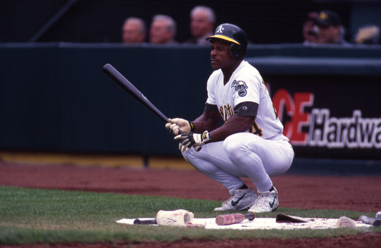 Rickey Henderson retired as both the single-season and career leader in stolen bases. He was elected to the Hall of Fame in 2009 following a career that featured 10 All-Star Game selections and the 1990 American League Most Valuable Player Award. (Brad Mangin/National Baseball Hall of Fame and Museum)
