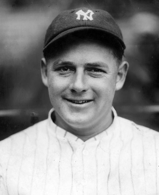 Waite Hoyt led the the American League in wins during the Yankees 1927 season.  Hoyt-Waite-2036-68WT_HS  (National Baseball Hall of Fame and Museum)