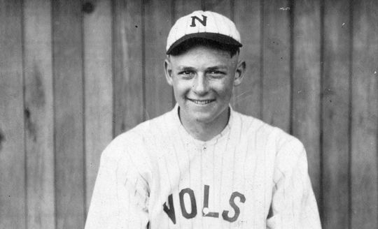 "Drafted as a 15-year old, Waite ""Schoolboy"" Hoyt made his Major League debut at 18 at the end of the 1918 season, the same year this photo was taken. Hoyt-Waite-2452-86_HS  (National Baseball Hall of Fame and Museum)"