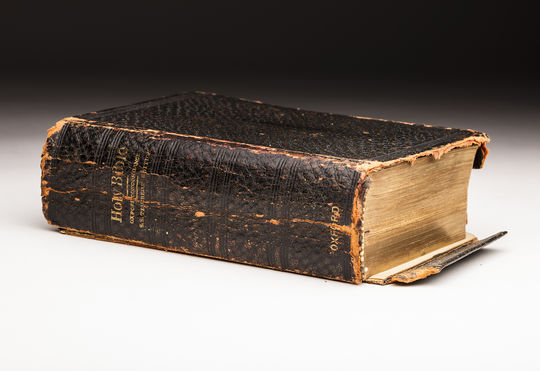 This bible was used by Christy Mathewson's Sunday school teacher, and contains various sermons preached to Mathewson at an early age. (Milo Stewart Jr. / National Baseball Hall of Fame)