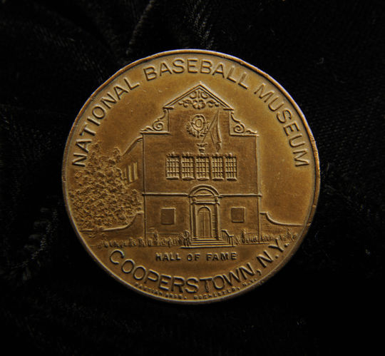 A collectible coin from the Museum's collection celebrating the Hall of Fame. (Milo Stewart, Jr., National Baseball Hall of Fame Library)