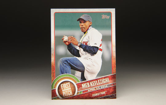 2015 Meb Keflezighi Topps First Pitch card. (Milo Stewart Jr. / National Baseball Hall of Fame)