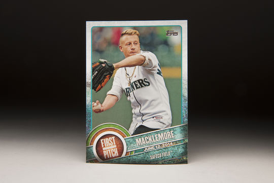 June 12, 2014 was Macklemore Bobblehead Giveaway night, during which he threw out the first pitch. ( Milo Stewart Jr. / National Baseball Hall of Fame)