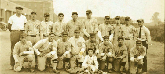 Industrial League baseball teams, like this Public Service Gas and Electric championship team from 1928, were common throughout America during the first half of the 20th century. (National Baseball Hall of Fame and Museum)